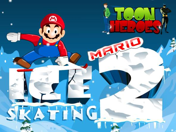 mario ice skating 2 flash game